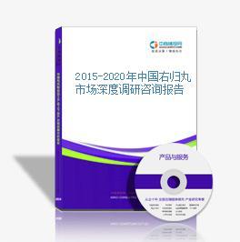 2015-2020年中国右归丸市场深度调研咨询报告