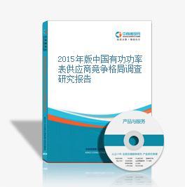 2015年版中国有功功率表供应商竞争格局调查研究报告