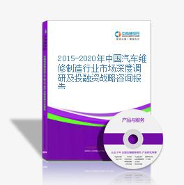 2015-2020年中国汽车维修制造行业市场深度调研及投融资战略咨询报告