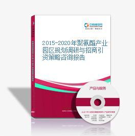 2015-2020年聚氨酯產業園區規劃調研與招商引資策略咨詢報告