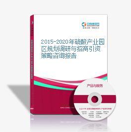 2015-2020年硫酸產業園區規劃調研與招商引資策略咨詢報告