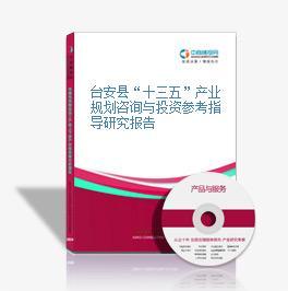 """台安县""""十三五""""产业规划咨询与投资参考指导研究报告"""