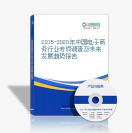 2015-2020年中国电子商务行业专项调查及未来发展趋势报告