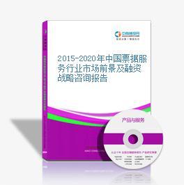 2015-2020年中国票据效劳区域环境上景及融资战略咨询报告