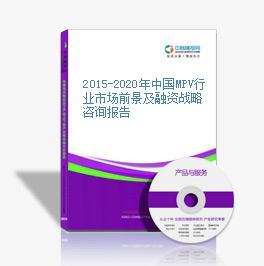 2015-2020年中国MPV行业市场前景及融资战略咨询报告
