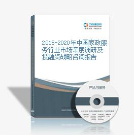 2015-2020年中国家政服务行业市场深度调研及投融资战略咨询报告
