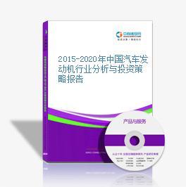 2015-2020年中国汽车发动机行业分析与投资策略报告