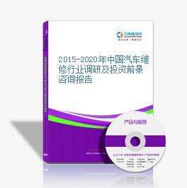2015-2020年中国汽车维修行业调研及投资前景咨询报告