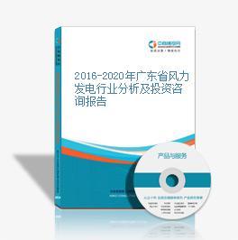 2016-2020年广东省风力发电350vip及斥资咨询报告