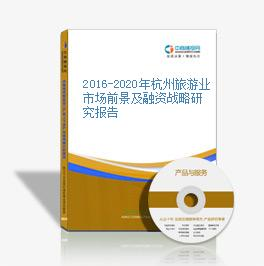 2016-2020年杭州旅游业市场前景及融资战略研究报告