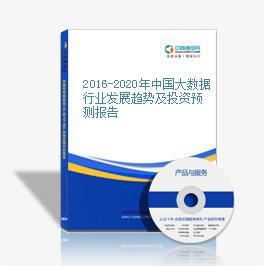 2016-2020年中國大數據行業發展趨勢及投資預測報告