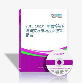 2016-2020年新疆投资环境研究及市场投资决策报告