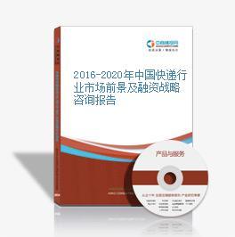 2016-2020年中国快递行业市场前景及融资战略咨询报告