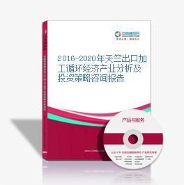 2016-2020年天竺出口加工循环经济产业分析及投资策略咨询报告