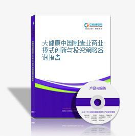 大健康中国制造业商业模式创新与投资策略咨询报告