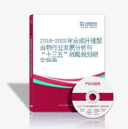 """2016-2020年合成纤维聚合物行业发展分析与""""十三五""""战略规划研究报告"""