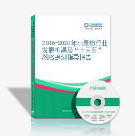 """2016-2020年小麦粉行业发展机遇及""""十三五""""战略规划指导报告"""