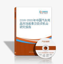 2016-2020年中国汽车用品市场前景及投资机会研究报告
