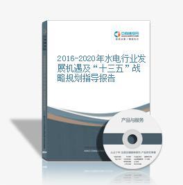 """2016-2020年水电行业发展机遇及""""十三五""""战略规划指导报告"""