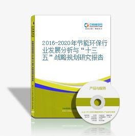 """2016-2020年节能环保行业发展分析与""""十三五""""战略规划研究报告"""