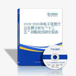 """2016-2020年电子信息行业发展分析与""""十三五""""战略规划研究报告"""