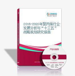 """2016-2020年聚丙烯行业发展分析与""""十三五""""战略规划研究报告"""