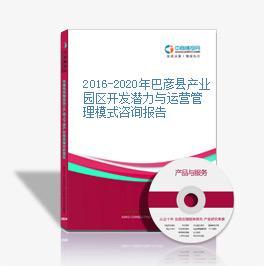 2016-2020年巴彦县产业园区开发潜力与运营管理模式咨询报告