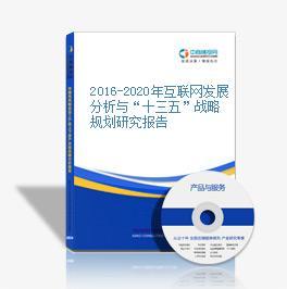 """2016-2020年互联网发展分析与""""十三五""""战略规划研究报告"""