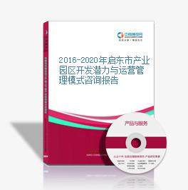 2016-2020年启东市产业园区开发潜力与运营管理模式咨询报告