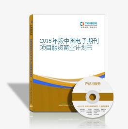 2015年版中国电子期刊项目融资商业计划书