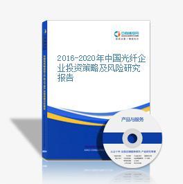 2016-2020年中国光纤企业投资策略及风险研究报告