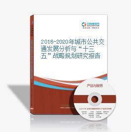 """2016-2020年城市公共交通发展分析与""""十三五""""战略规划研究报告"""