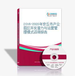 2016-2020年安丘市产业园区开发潜力与运营管理模式咨询报告