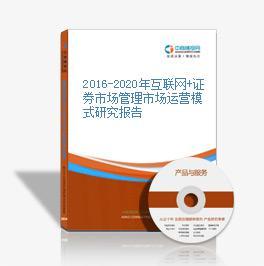 2016-2020年互联网+证券市场管理市场运营模式研究报告