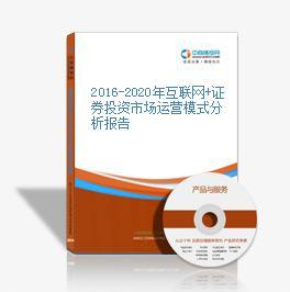 2016-2020年互联网+证券投资市场运营模式分析报告