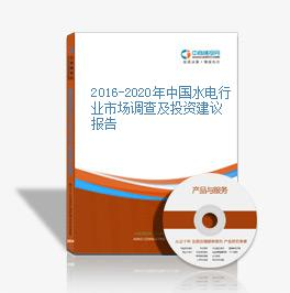 2016-2020年中国水电行业市场调查及投资建议报告