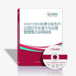 2016-2020年德令哈市產業園區開發潛力與運營管理模式咨詢報告