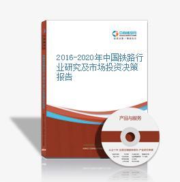 2016-2020年中国铁路行业研究及市场投资决策报告