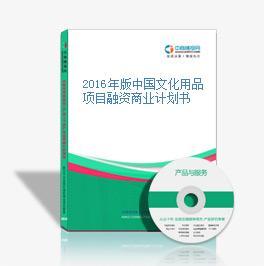 2016年版中国文化用品项目融资商业计划书