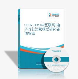 2016-2020年互联网+电子行业运营模式研究咨询报告