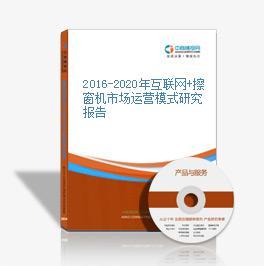 2016-2020年互聯網+擦窗機市場運營模式研究報告