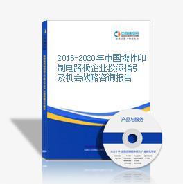 2016-2020年中国挠性印制电路板企业投资指引及机会战略咨询报告