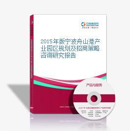 2015年版寧波舟山港產業園區規劃及招商策略咨詢研究報告