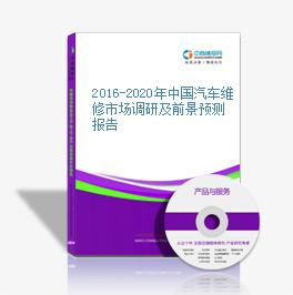 2016-2020年中国汽车维修市场调研及前景预测报告