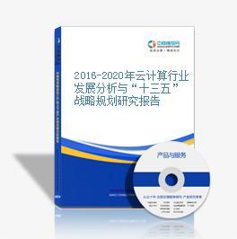 """2016-2020年云计算行业发展分析与""""十三五""""战略规划研究报告"""