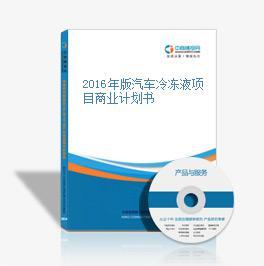 2016年版汽車冷凍液項目商業計劃書