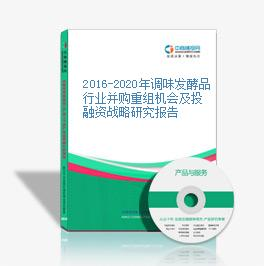 2016-2020年调味发酵品行业并购重组机会及投融资战略研究报告