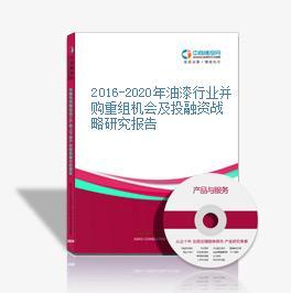 2016-2020年油漆行业并购重组机会及投融资战略研究报告