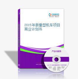 2015年版重型机车项目商业计划书