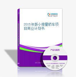 2015年版小排量轎車項目商業計劃書